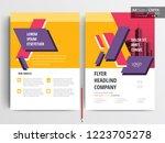 vector brochure layout  flyers... | Shutterstock .eps vector #1223705278