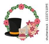 wedding celebration cartoons   Shutterstock .eps vector #1223711095