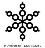 geometrical snowflake icon... | Shutterstock .eps vector #1223722252