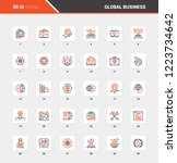 vector set of global business... | Shutterstock .eps vector #1223734642