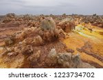 dallol is an active volcanic... | Shutterstock . vector #1223734702
