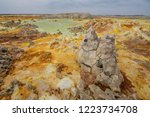 dallol is an active volcanic... | Shutterstock . vector #1223734708