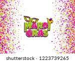 comics text mask isolated.... | Shutterstock .eps vector #1223739265