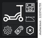 set of 6 modern outline icons... | Shutterstock .eps vector #1223741755