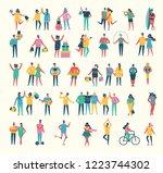 vector illustration in a flat... | Shutterstock .eps vector #1223744302