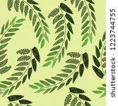 gentle botanical composition.... | Shutterstock .eps vector #1223744755