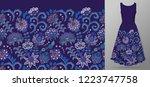 vertical seamless fashion... | Shutterstock . vector #1223747758