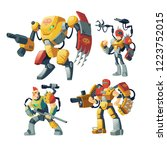 Vector Cartoon Robot Guards ...