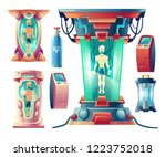 vector cartoon set with... | Shutterstock .eps vector #1223752018