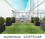 backyard houses in the style of ... | Shutterstock . vector #1223752168