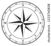 vintage compass navigation dial ... | Shutterstock .eps vector #1223760838