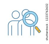 audience research color icon.... | Shutterstock .eps vector #1223762632
