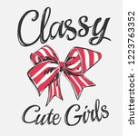 classy slogan with stripe... | Shutterstock .eps vector #1223763352