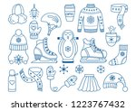 winter ice skating outline icon ... | Shutterstock .eps vector #1223767432