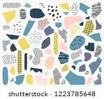 trendy vector abstract pieces.... | Shutterstock .eps vector #1223785648