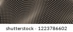 lattice structure. science or... | Shutterstock .eps vector #1223786602