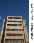 old socialist house in prague. | Shutterstock . vector #1223787595