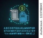 invoice neon light concept icon.... | Shutterstock .eps vector #1223788045