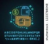 cash neon light concept icon. ... | Shutterstock .eps vector #1223788048