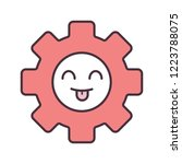 smiling cogwheel color icon.... | Shutterstock .eps vector #1223788075