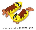 couple of corn covered by... | Shutterstock .eps vector #1223791495