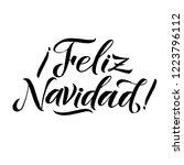 happy new year stroke spanish... | Shutterstock .eps vector #1223796112