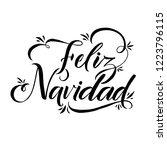 happy new year stroke spanish... | Shutterstock .eps vector #1223796115
