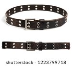 rock style leather belt for men.... | Shutterstock . vector #1223799718