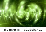 abstract green bokeh circles on ... | Shutterstock . vector #1223801422