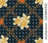floral wallpaper in gray  brown ... | Shutterstock .eps vector #1223804332