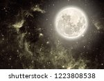 background night sky with stars ... | Shutterstock . vector #1223808538
