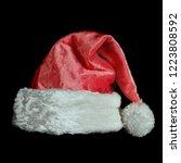 christmas santa claus hat on...   Shutterstock . vector #1223808592