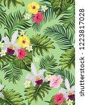 seamless floral pattern.... | Shutterstock .eps vector #1223817028