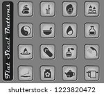 spa vector web icons on the... | Shutterstock .eps vector #1223820472
