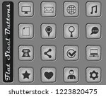 social media vector web icons... | Shutterstock .eps vector #1223820475