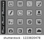 social media vector web icons... | Shutterstock .eps vector #1223820478