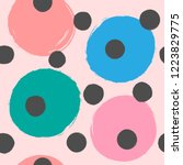 repeating colored round spots... | Shutterstock .eps vector #1223829775