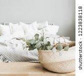 modern apartment interior... | Shutterstock . vector #1223838118