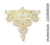 vector golden element ... | Shutterstock .eps vector #1223838328