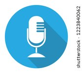 microphone icon flat design ...