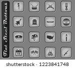 veterans day vector web icons... | Shutterstock .eps vector #1223841748