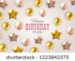 color glossy happy birthday... | Shutterstock . vector #1223842375