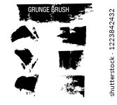 vector set of grunge brush... | Shutterstock .eps vector #1223842432