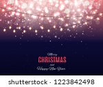 merry christmas and new year... | Shutterstock . vector #1223842498