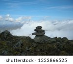 view from mountain range to the ... | Shutterstock . vector #1223866525