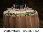 wedding reception sweetheart... | Shutterstock . vector #1223878465