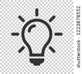 light bulb icon in flat style.... | Shutterstock .eps vector #1223878552