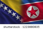 bosnia and north korea   3d... | Shutterstock . vector #1223880835