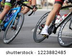 cycle race  august 27  2018 ... | Shutterstock . vector #1223882485