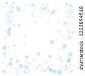 snowflakes confetti  falling... | Shutterstock .eps vector #1223894518